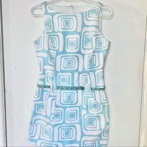 Vintage Shelli Segal Geometric Mini Dress 1995
